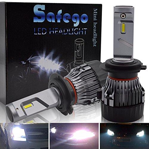 Safego Lampadine H7 LED 8000LM, Fari Abbaglianti o Anabbaglianti per Auto, Kit Sostituzione per Alogena Lampade e Xenon Luci, 12V DC 6500K Bianco, 1 Anni Garanzia, 2 Lam