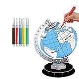 STOBOK 1 stück DIY malerei Spielzeug globus Kontinente füllen Farben in 3D globus Papier rätsel Zeichnung malerei Erde Modell lernbrett Spielzeug
