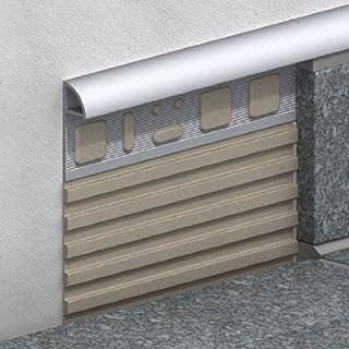 Viertelkreis-Profil Aluminium 100cm silber eloxiert