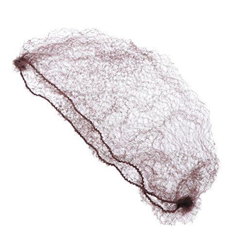 Rosenice 50pcs retina per capelli invisibile rete di bordi elastici per le donne accessori per capelli fantasia retina per ragazze, caffè