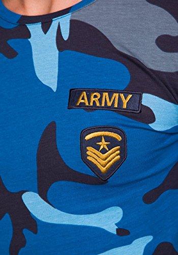 BOLF – Sweat-shirt – Manches longues – U-neck – ATHLETIC 1086 – Homme Bleu foncé