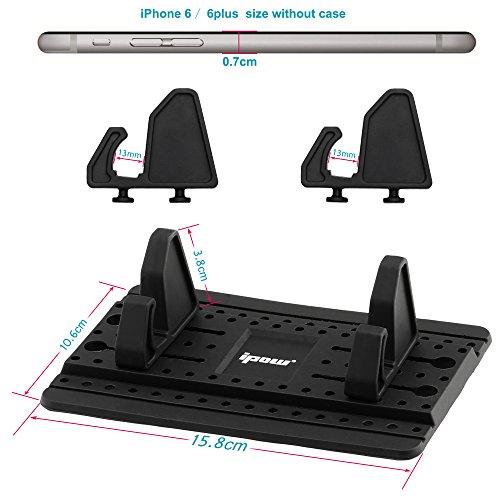 2017 upgraded version mit klebepad ipow universal silikon handyhalterung f r auto. Black Bedroom Furniture Sets. Home Design Ideas
