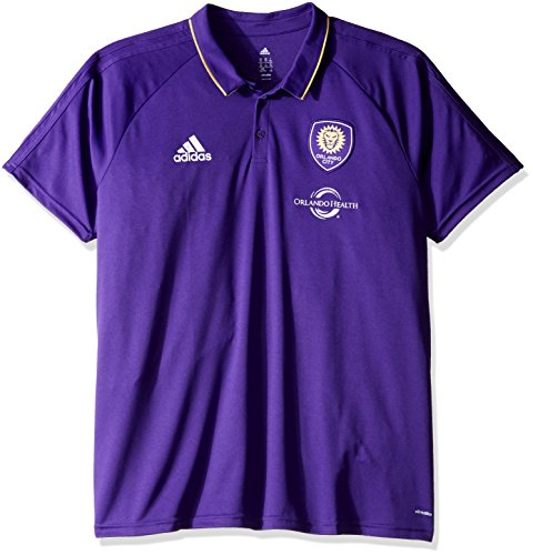 adidas Orlando City SC MLS Men's On-Field Coaches ClimaLite Polo Shirt Camicia