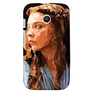 ColourCrust Motorola Moto E Mobile Phone Back Cover With Low Poly Art - Durable Matte Finish Hard Plastic Slim Case