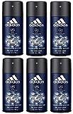 adidas UEFA Champions League Deo Bodyspray - Deodorant für langanhaltende Frische & einen aromatisch-belebenden Duft nach jeder Anwendung - 6er Pack (6 x 150 ml)