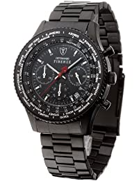DETOMASO Herren-Armbanduhr Firenze Chronograph IPB Chronograph Quarz SM1624C-BK