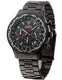 DETOMASO Herren-Uhr Firenze Chronograph mit Edelstahl-Armband und Mineral-Kristallglas. Moderne und Wasserdichte Quarz-Uhr mit schwarzem Edelstahl-Gehäuse