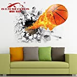 Ascent 3D Wall Sticker For Living Room Car Self Adhesive Kids Removable Sticker PVC Vinyl (70 Cm X 50 Cm)