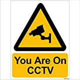 #8: Clickforsign SIGN06-M-1-2x Caution CCTV Sign Board for  Walls and Doors