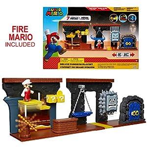 Jakks Pacific Dungeon Super Mario - playset Mundo fungen, Multicolor, Talla única 85993