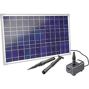 Hausmarke 101018 – Equipo solar para estanque (25 W, 1600 l/h, capacidad de extracción de 2,3 m, altura de extracción)