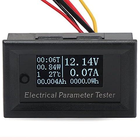geree portatile 7in1OLED multimetro a tensione Capacità energia Run tempo temperatura Monitor DC 33V 3A Amperometro voltmetro misuratore Watt 99W 10000WH 100Ah multifuction Tester - 36 Carbon