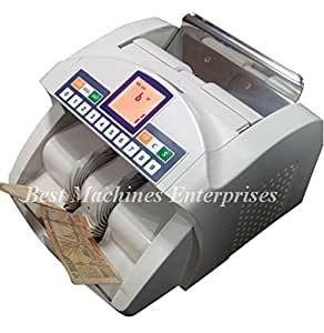 BME 52 HD -Latest fully Automatic Note/Cash/Money Counting Machine with fake note detection with Red turning LCD. 1 Year Warranty(Compatible with new INR notes)