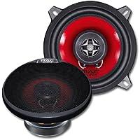Mac Audio APM Fire 13.2 - Altavoces de coche (sistema coaxial de 2 vías, rango de frecuencia de 50-20000 Hz) rojo