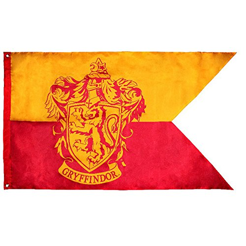 Accesorio Harry Potter - Bandera de la Casa Gryffindor [Escudo de Armas]