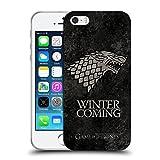 Head Case Designs Ufficiale HBO Game of Thrones Stark Sigilli Scuri Cover Morbida in Gel per iPhone 5 iPhone 5s iPhone SE