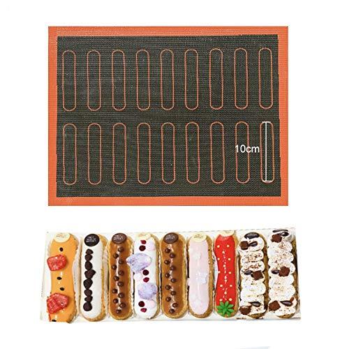 2 stücke Silikon Matte 18 Eclair Gebäck Non Stick PuffPerforated Liner CookieTorte BrotformFür Backenwerkzeuge