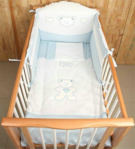 YAN Kinderbett Bett Liner Set Unisex Kinderzimmer Atmungsaktive Kinderbett Bett Stoßstange Abdeckung Halb Umgeben Atmen Easy Air Alle Saison (Farbe : 2)