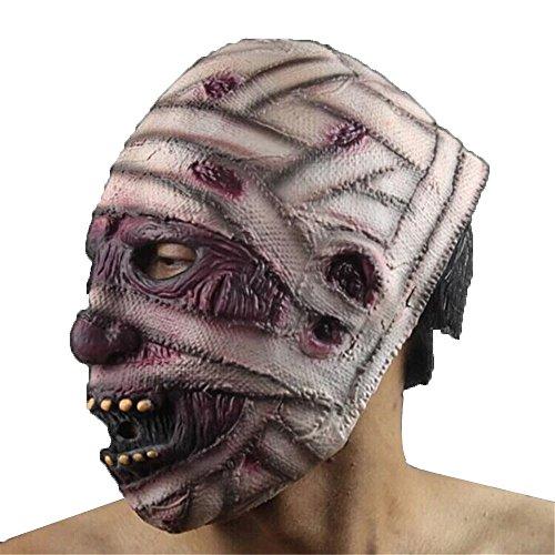 HBWJSH Halloween Horror Maske Grün Latex Maske Prom Maske Teufel/Mummy / Grimasse