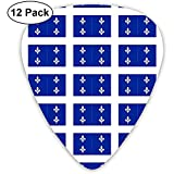Drapeau du Québec Fleur-de-lis Médiator bleu classique en celluloïd classique pour basse électrique et mandoline (12 unités)