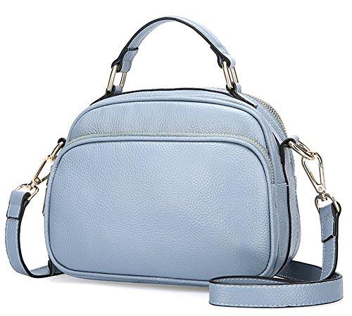 3cb08d7d46 Xinmaoyuan Borse donna borsette in cuoio donna spalle croce obliqua  fotocamera borsa,Nero Blue ...