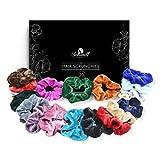 Elastici per Capelli in Velluto   Scrunchies Vsco Girl   Confezione da 20 Pezzi   Braccialetti Colorati per Donne e Bambine  