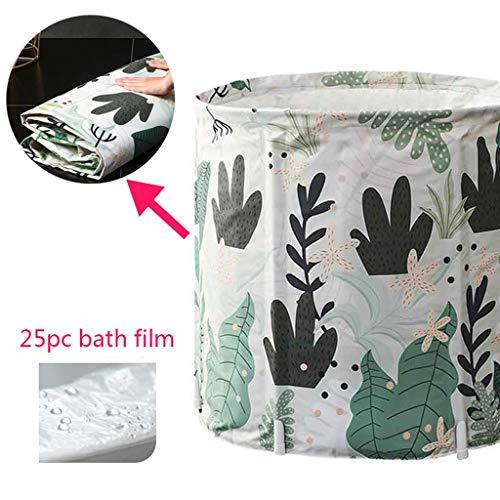 Grüne Algen Blätter Cartoon faltbare Badewanne für Erwachsene, Kinder, Kunststoff Badewanne Verdickung Schaum Baumwolle + PVC Stoff, weiß rosa Seestern (größe : 25 pc bath film) -