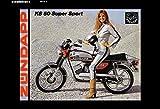 Schatzmix Zündapp K3 50 Super Sport Frau af Motorrad Metal Sign deko Schild Blech Garten