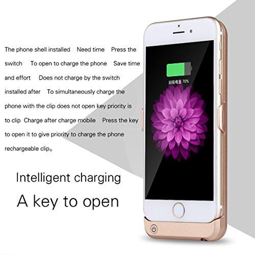 FindaGift Batterie Charger Li-Polymer Akku Hülle Apple iPhone 6 / 6S 4.7 inch Lademöglichkeit Bettary Hülle Deckel Schalen Gehäuse Battery Cover Protector Akku Taschen Schutzhülle für Apple iPhone 6 / Golden