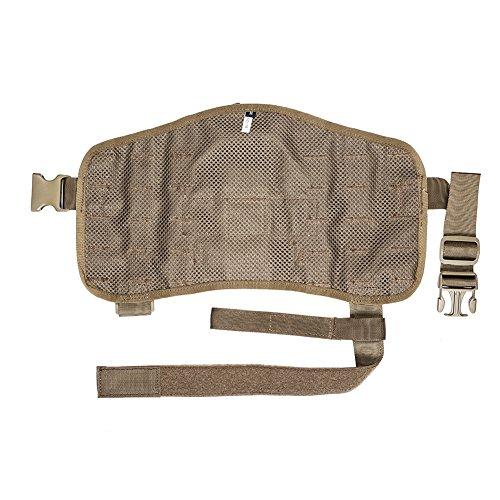 OneTigris Molle Kompakte Hundegeschirr Taktische Hundetrainings Weste Harness Brustgeschirre (Khaki, M) - 5