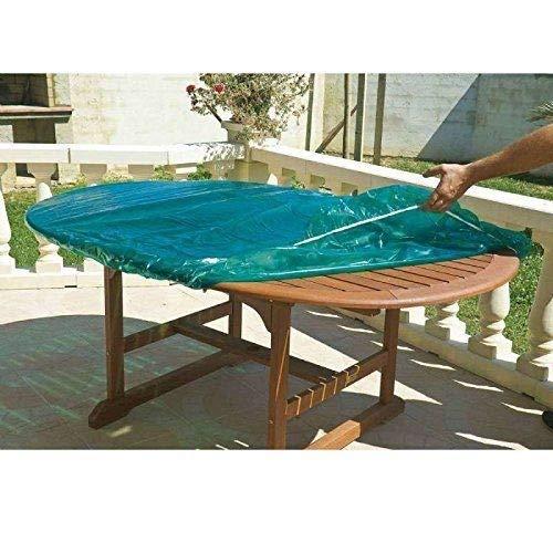 Maillesac - JP0132 - Housse pour Plateau de Table Ovale et Rectangulaire Plastique - Vert Translucide - 120 x 180 cm