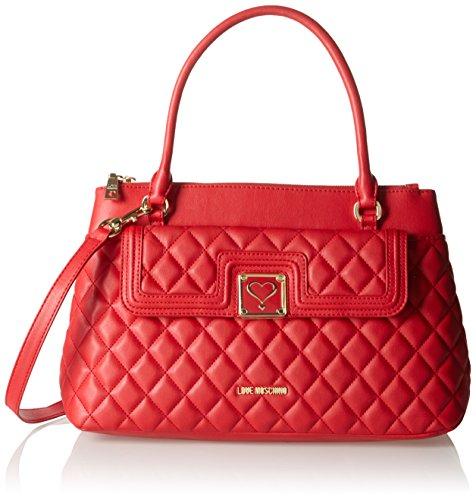 Love Moschino JC4014, Sacs Portés Main Femmes, 14x26x40 cm Rouge (red)