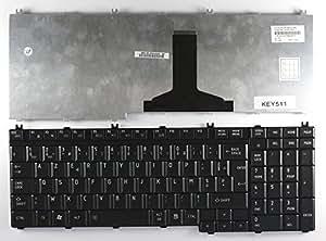 Toshiba Satellite P300-1BB Noir Layout Française Clavier pour ordinateur portable (PC) de remplacement