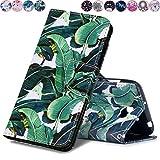 Huihai Huawei Y5 II/Y5 2 Hülle, Flip Case Cover Exquisite Malerei [Bananenbaum] PU Leder Tasche Brieftasche Handyhülle, mit Standfunktion Schutzhülle für Huawei Y5 II/Y5 2 CUN-L21 (5.0 Zoll)