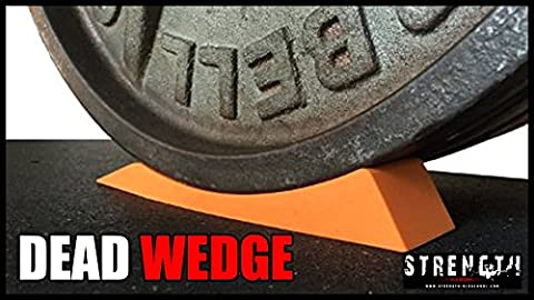 The Dead Wedge - Deadlift Jack Alternative for Your Gym Bag - Raises loaded barbell & plates for effortless Loading/Unloading. Perfect for Powerlifting, Weightlifting, Crossfit, Home Gym & Deadlifts.