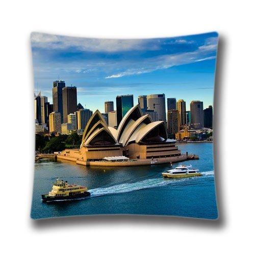 (Stuhl Kissen Fall Sydney Opera House Australien Personalisierte quadratisch 45,7x 45,7cm