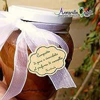 Adesivi kraft personalizzati per nastro, etichette bomboniere matrimonio, battesimo, thank you stickers, grazie, comunione, cresima, laurea, adesivi kraft nuvola per nastrini