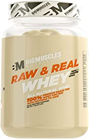 Bigmuscles Nutrition Raw & Real Organic Whey Protein [1kg] - Natural, 80% Protein, Additive Free, Unflavored, 24g Protein ,5.
