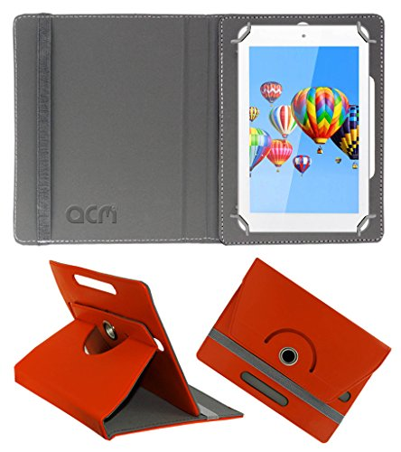 Acm Rotating 360° Leather Flip Case for Digiflip Pro Et701 Tab Cover Stand Orange  available at amazon for Rs.149