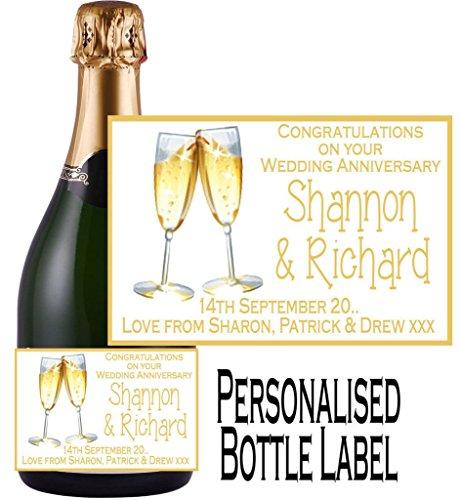 Champagner Personalisierter (Eternal Design Personalisiertes Flaschenetikett Anniversary Champagner ancl 6)