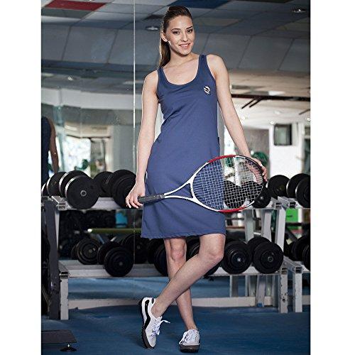 BIG SM EXTREME SPORTSWEAR Damen Kleid Sportkleid Stretchkleid 2648 blau S