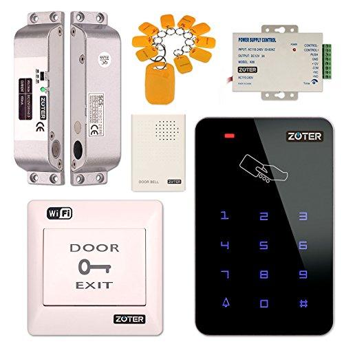 Access Control System, zoter WiFi Wireless App Steuerung Home Office DIY Sicherheit Kit RFID Karte mit Oberfläche montiert Türschloss NC Modus Wireless Control Kit