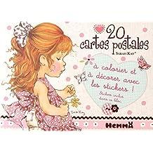 20 cartes postales Sarah Kay : A colorier et décorer avec les stickers !