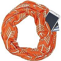 YYXXX Schal Tasche Schal Muster Reißverschluss Multifunktions-Unisex-warmer Schal
