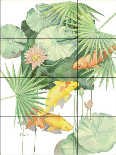 Fliesenwandbild - Tropical Pool 1 - von Paul Brent - Küche Aufkantung/Bad Dusche - Keramische Fliesen Pool