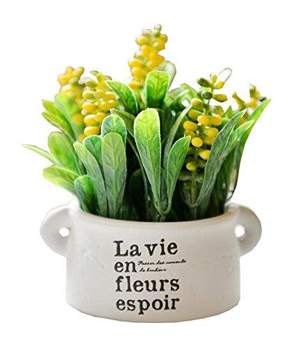 East Utopia Künstliche Topfpflanzen Heimdekoration Keramik Topf