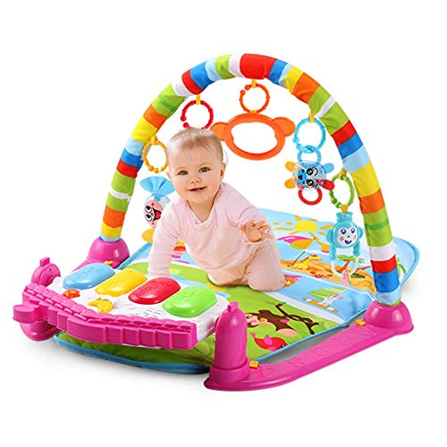 Jueven Juguete para bebés Juguete multifunción Música Estante de ejercicios Juguete para bebés Estera de arrastre Juego Manta Bebé Estera para piano Recién nacido Educación temprana Pedal de la máquin