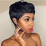 Afro Perücken Kurz Gelockt Pixie Cut Perücken Zum Schwarz Frau Afrikanisch Amerikanisch Haar Hitze Beständig Faser Voll Perücken Mit Perücke Deckel 9