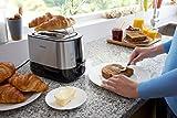 Philips HD2637/90 Toaster (7 Stufen, Brötchenaufsatz, Stopp-Taste, 1000 W, schwarz/edelstahl) - 4