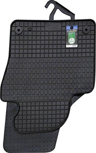 Gummimatten VW Tiguan 5N R-Line Fußmatten Gummi Allwetter Original Qualität 4-teilig schwarz rund Druckknopf